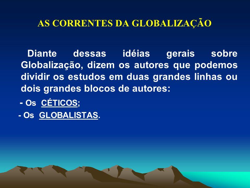 AS CORRENTES DA GLOBALIZAÇÃO