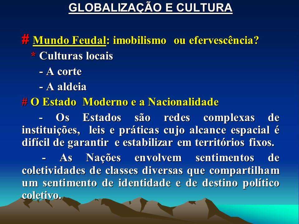 GLOBALIZAÇÃO E CULTURA