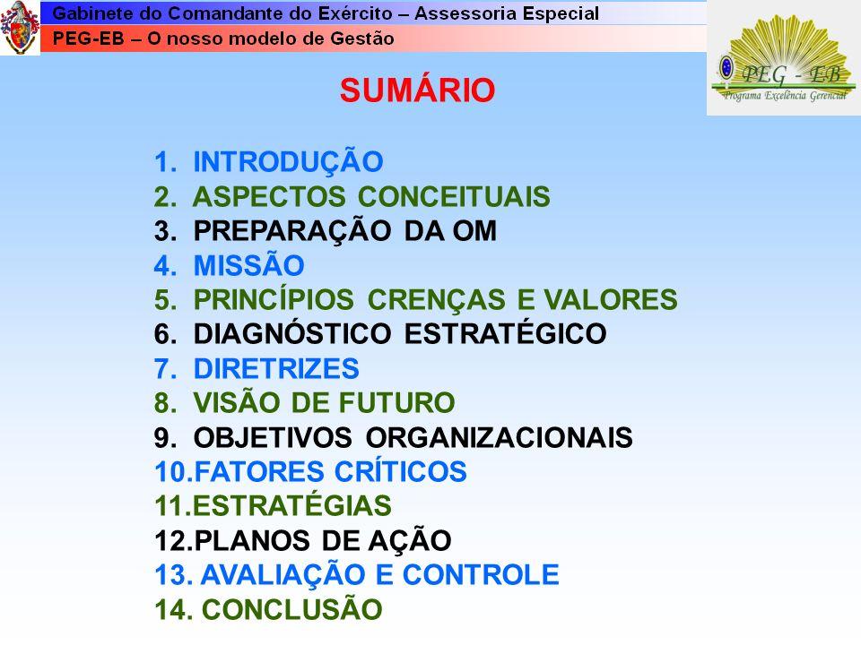 SUMÁRIO 1. INTRODUÇÃO 2. ASPECTOS CONCEITUAIS 3. PREPARAÇÃO DA OM