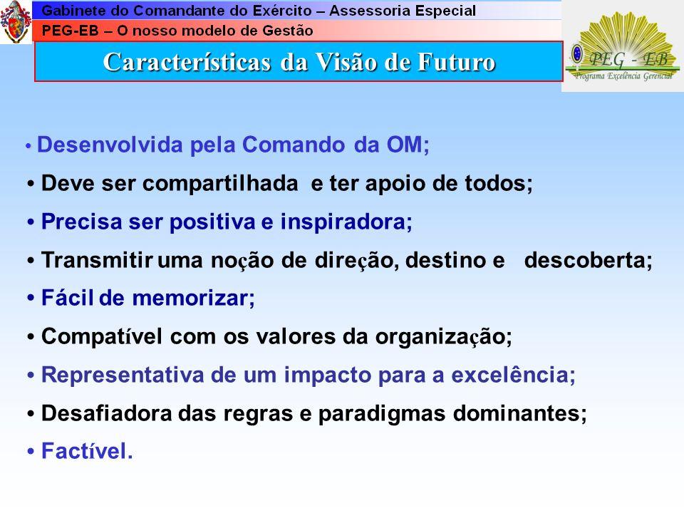 Características da Visão de Futuro