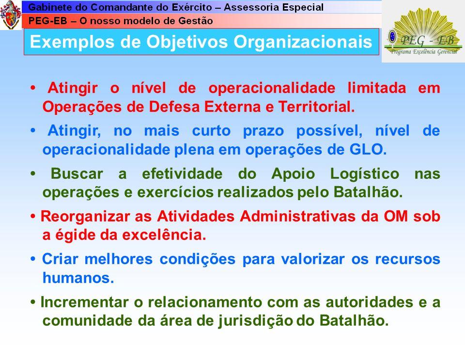 Exemplos de Objetivos Organizacionais