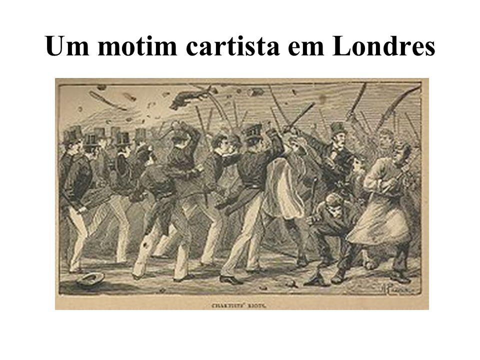 Um motim cartista em Londres