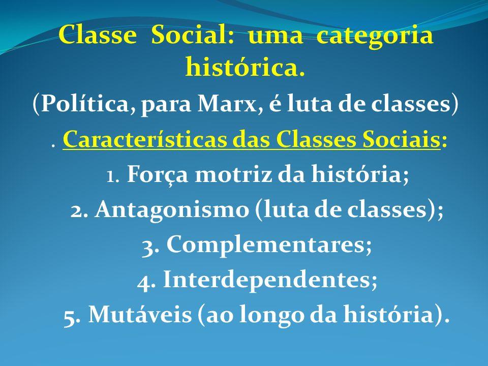 Classe Social: uma categoria histórica.