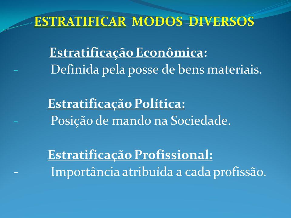 ESTRATIFICAR MODOS DIVERSOS