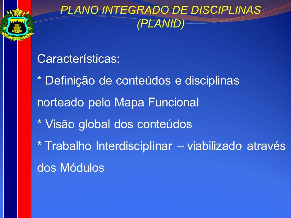 PLANO INTEGRADO DE DISCIPLINAS (PLANID)