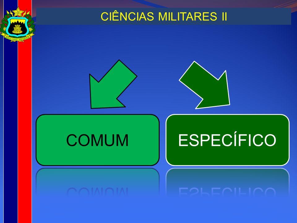 CIÊNCIAS MILITARES II COMUM ESPECÍFICO
