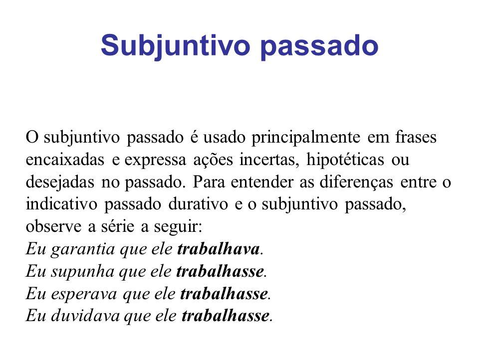Subjuntivo passado