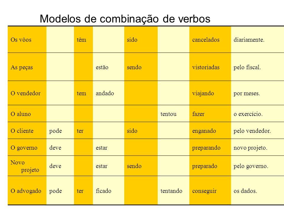 Modelos de combinação de verbos