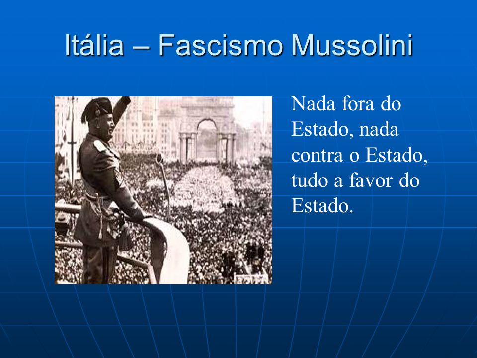 Itália – Fascismo Mussolini