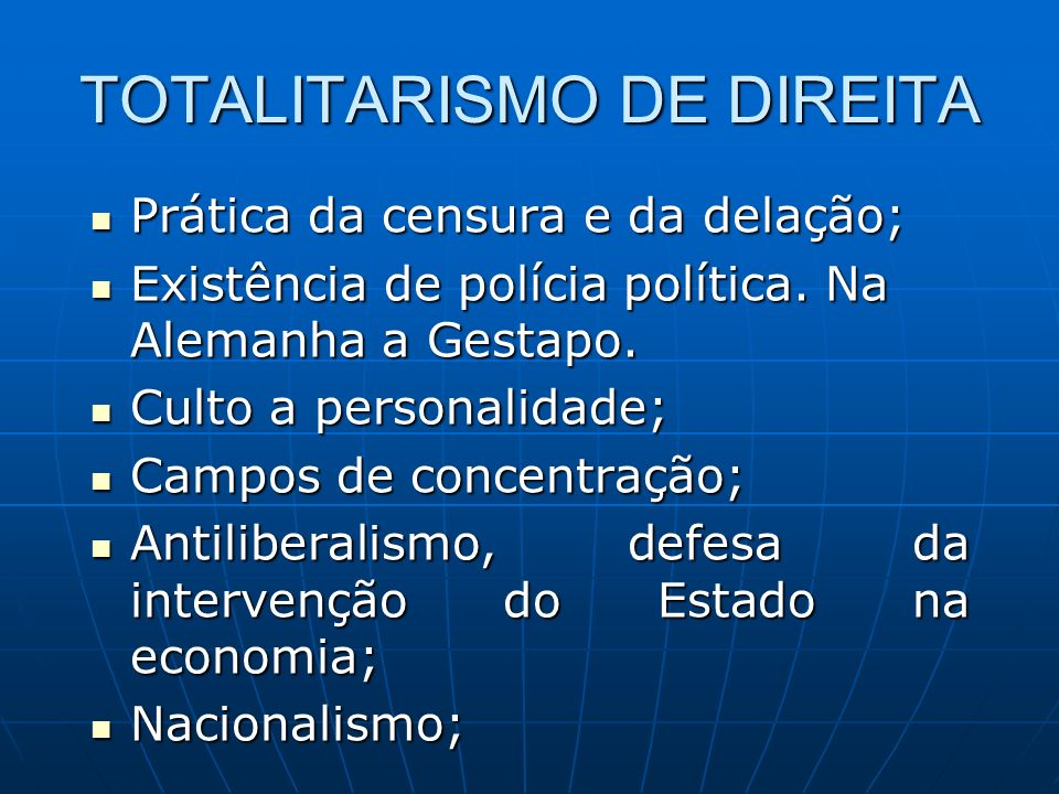 TOTALITARISMO DE DIREITA