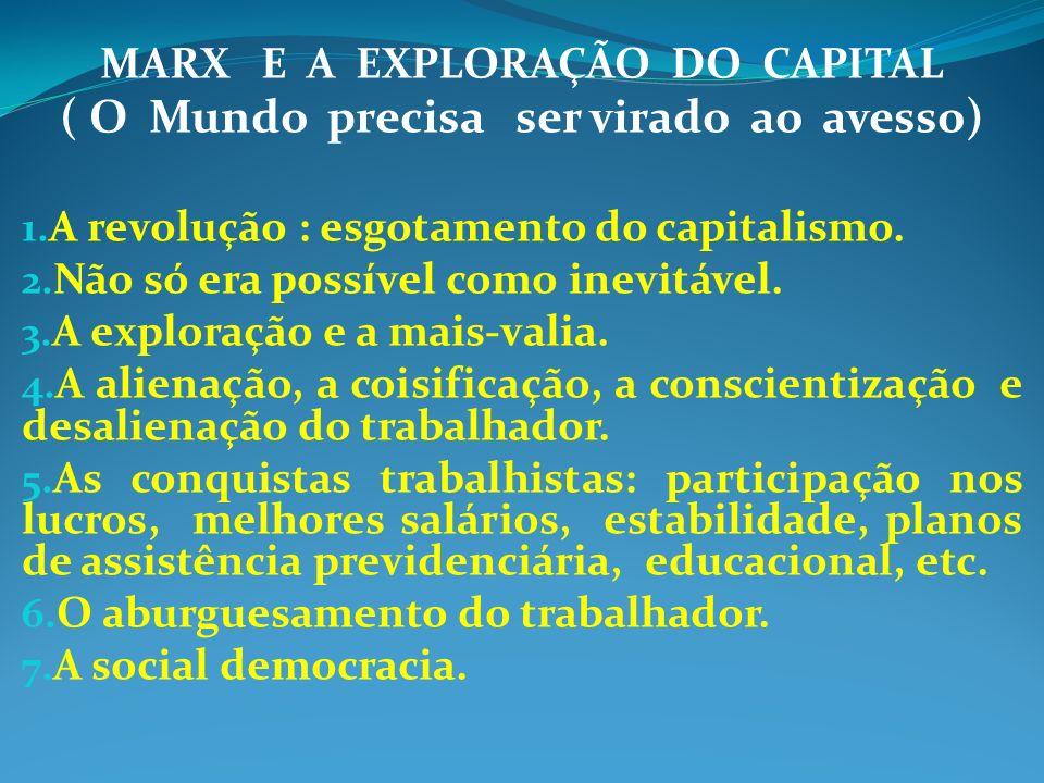 MARX E A EXPLORAÇÃO DO CAPITAL ( O Mundo precisa ser virado ao avesso)
