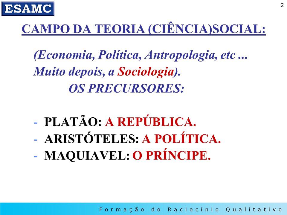 CAMPO DA TEORIA (CIÊNCIA)SOCIAL: