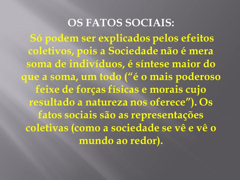 OS FATOS SOCIAIS: