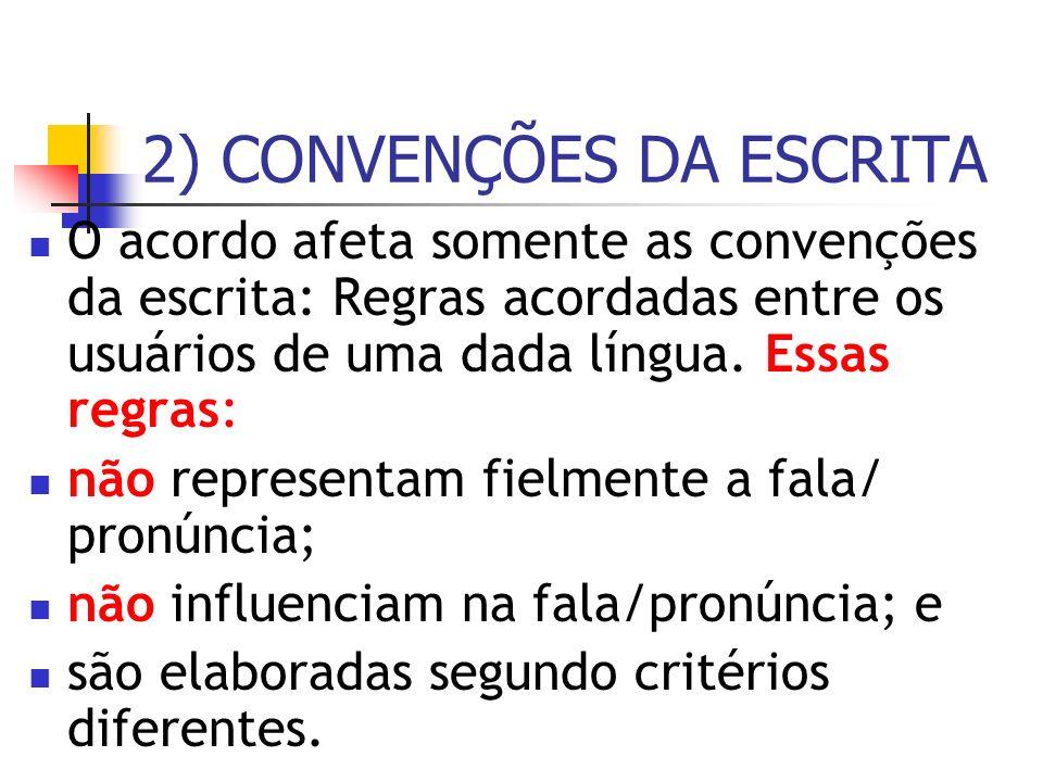 2) CONVENÇÕES DA ESCRITA