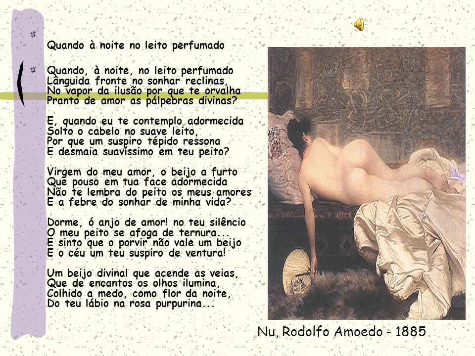 Nu, Rodolfo Amoedo - 1885 Quando à noite no leito perfumado