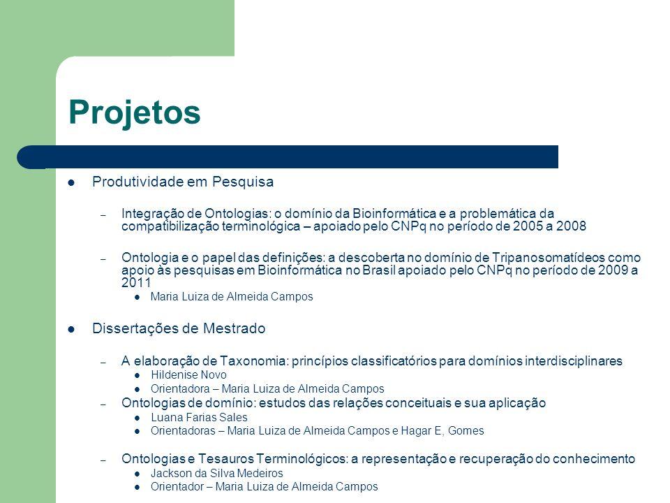Projetos Produtividade em Pesquisa Dissertações de Mestrado