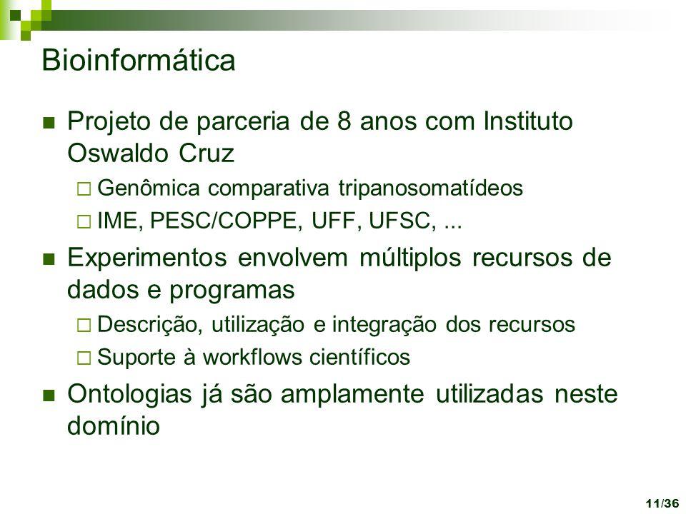 Bioinformática Projeto de parceria de 8 anos com Instituto Oswaldo Cruz. Genômica comparativa tripanosomatídeos.