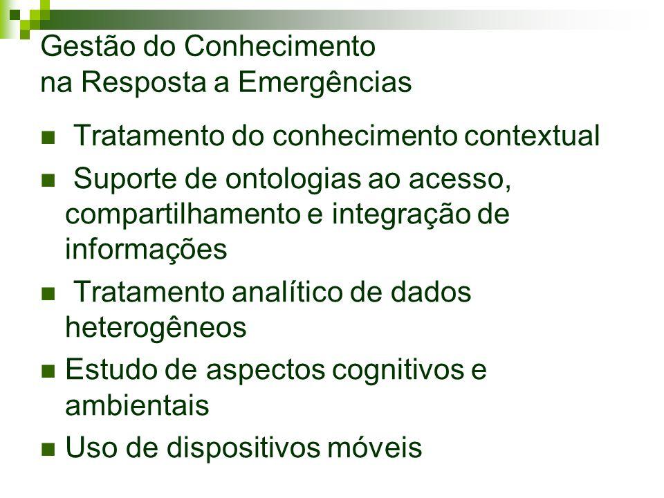 Gestão do Conhecimento na Resposta a Emergências