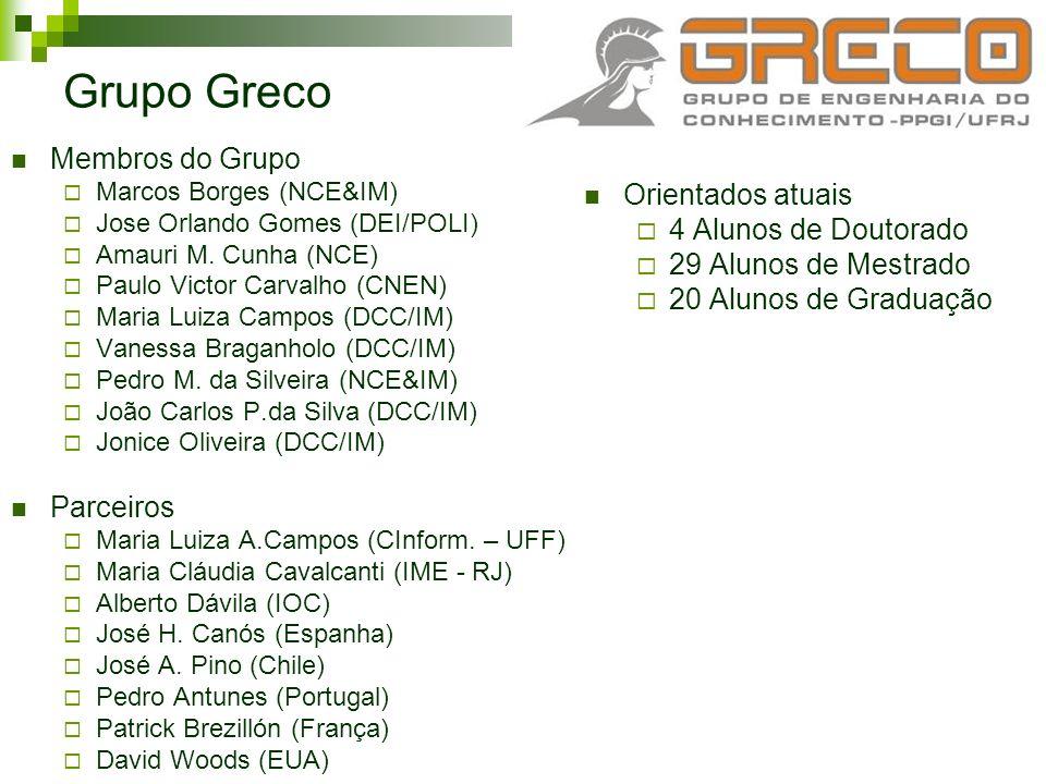 Grupo Greco Membros do Grupo Orientados atuais 4 Alunos de Doutorado