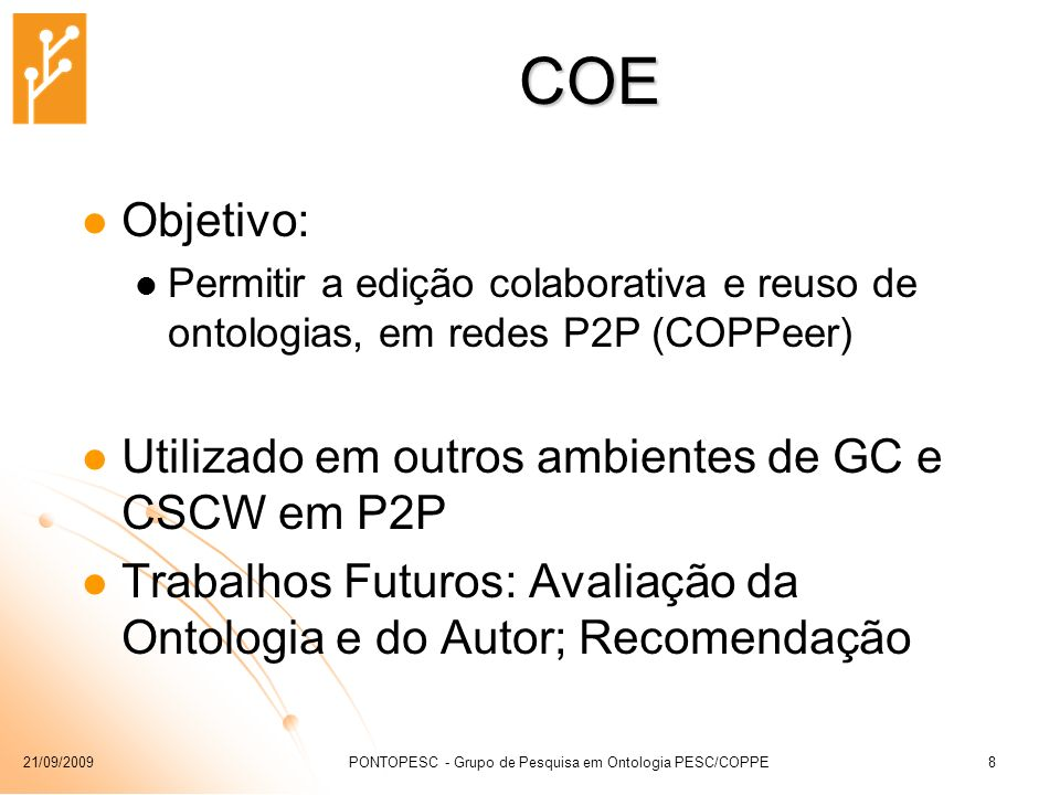 PONTOPESC - Grupo de Pesquisa em Ontologia PESC/COPPE