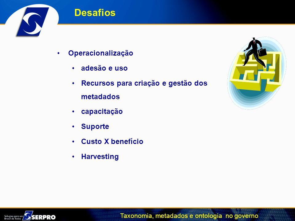 Desafios Operacionalização adesão e uso