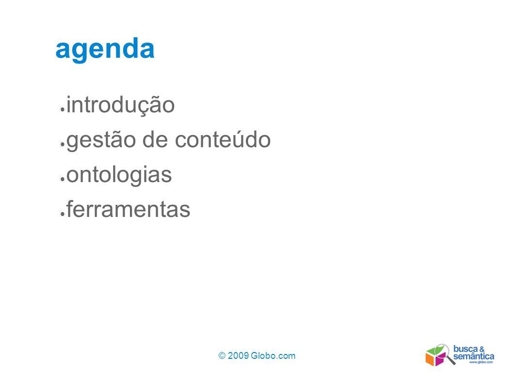 agenda introdução gestão de conteúdo ontologias ferramentas