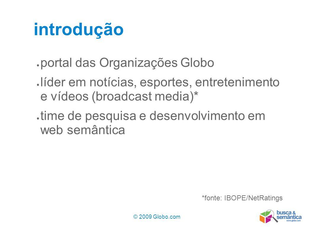 introdução portal das Organizações Globo