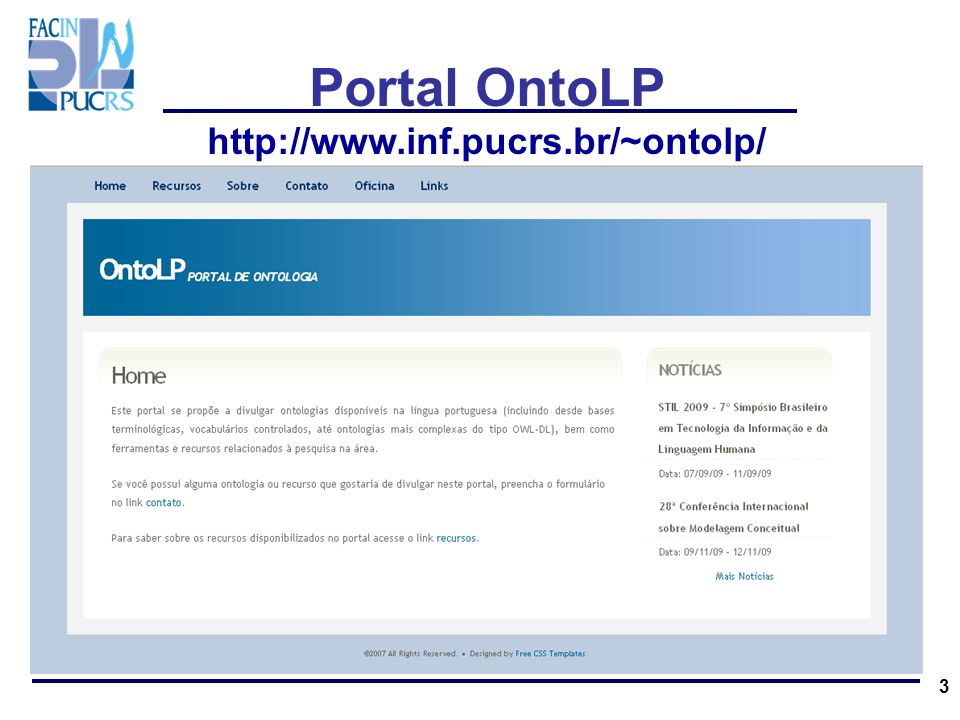 Portal OntoLP http://www.inf.pucrs.br/~ontolp/ 3