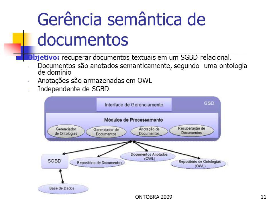 Gerência semântica de documentos