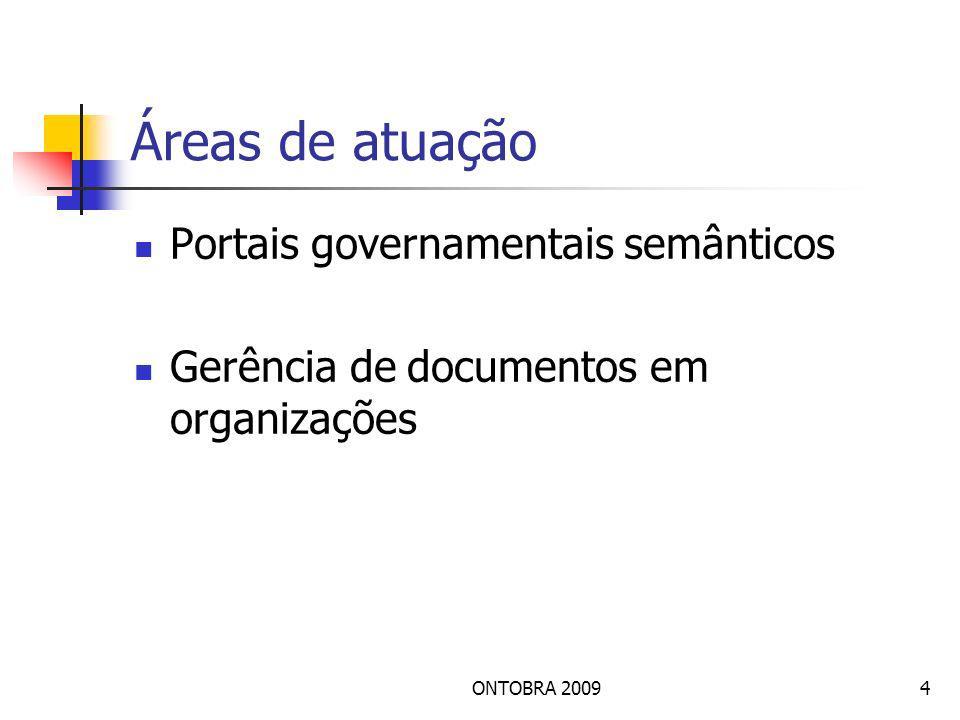 Áreas de atuação Portais governamentais semânticos