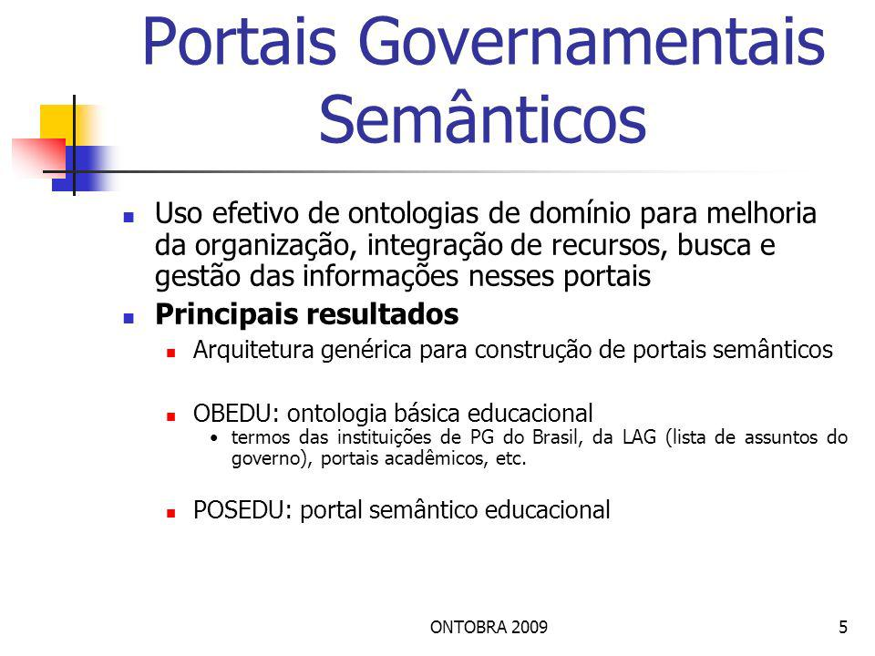 Portais Governamentais Semânticos