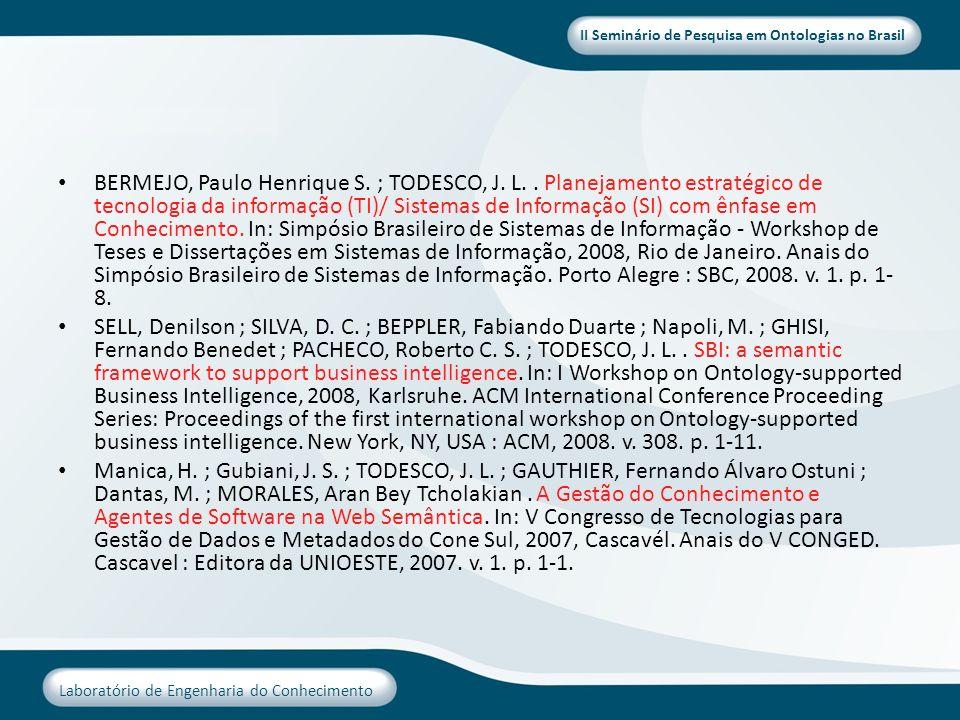 BERMEJO, Paulo Henrique S. ; TODESCO, J. L