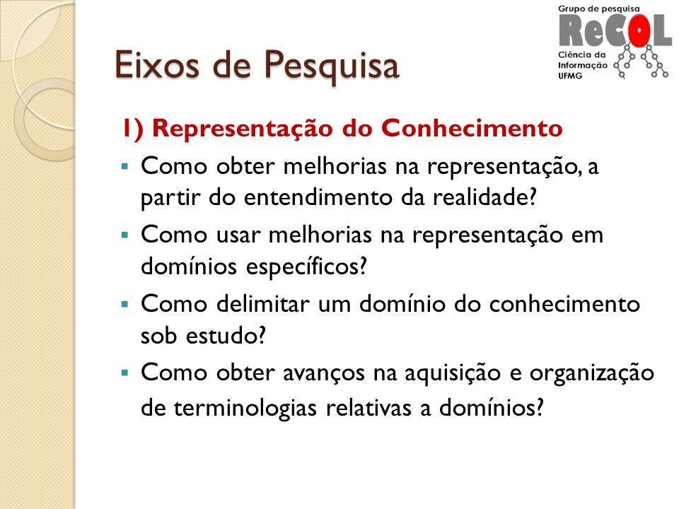 Eixos de Pesquisa 1) Representação do Conhecimento