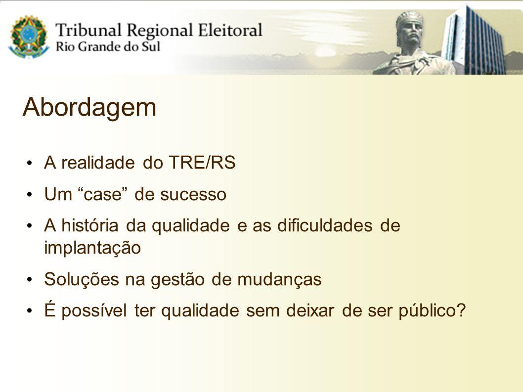 Abordagem A realidade do TRE/RS Um case de sucesso