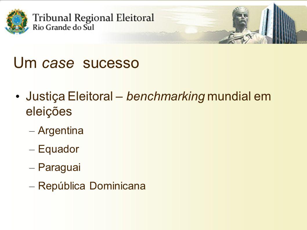 Um case sucesso Justiça Eleitoral – benchmarking mundial em eleições
