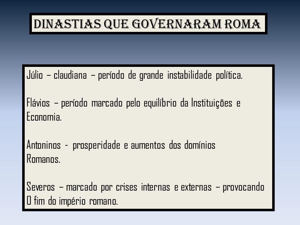 Dinastias que governaram Roma