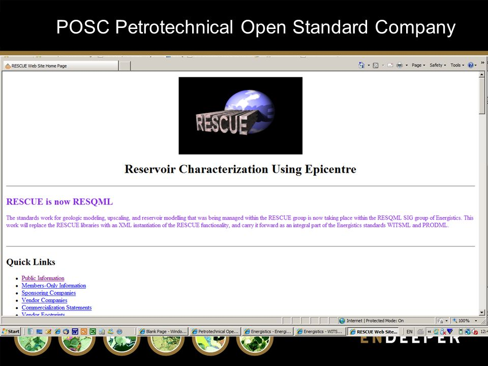 POSC Petrotechnical Open Standard Company