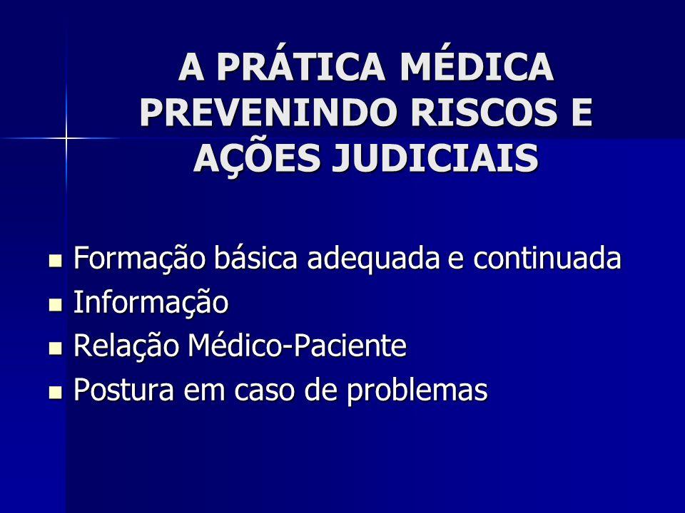 A PRÁTICA MÉDICA PREVENINDO RISCOS E AÇÕES JUDICIAIS