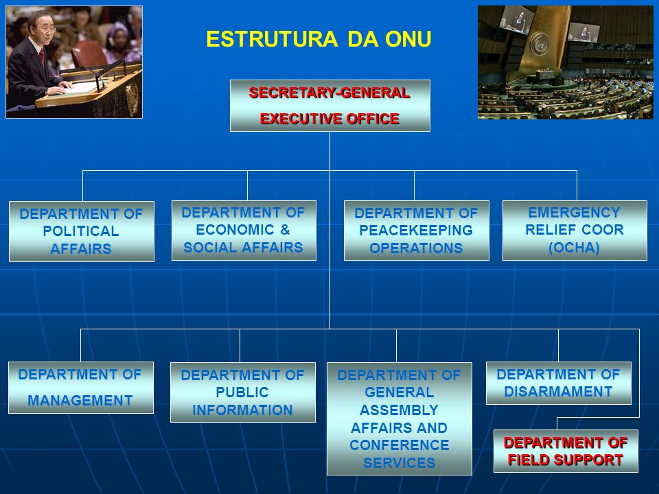 ESTRUTURA DA ONU SECRETARY-GENERAL EXECUTIVE OFFICE