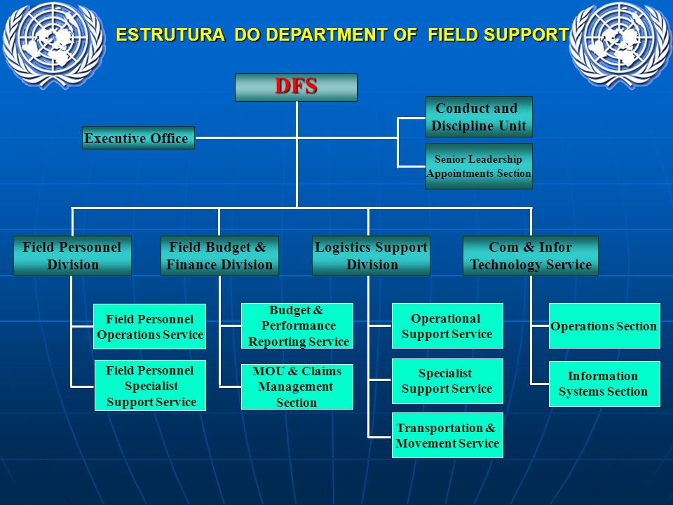 ESTRUTURA DO DEPARTMENT OF FIELD SUPPORT