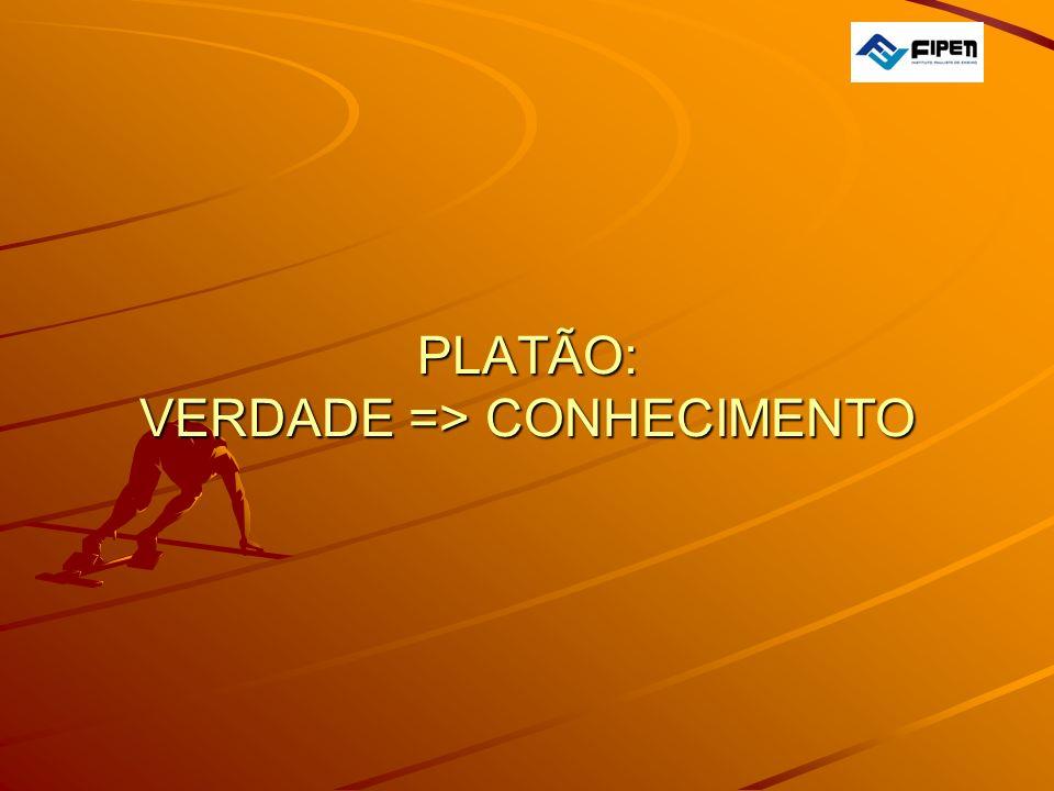  PLATÃO: VERDADE => CONHECIMENTO