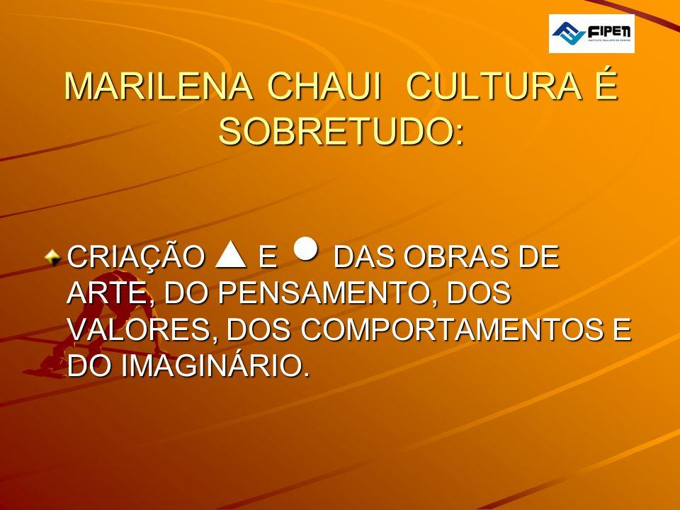 MARILENA CHAUI CULTURA É SOBRETUDO: