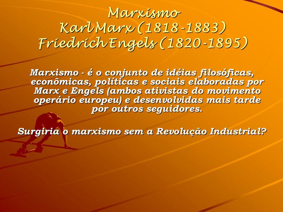 Marxismo Karl Marx (1818-1883) Friedrich Engels (1820-1895)