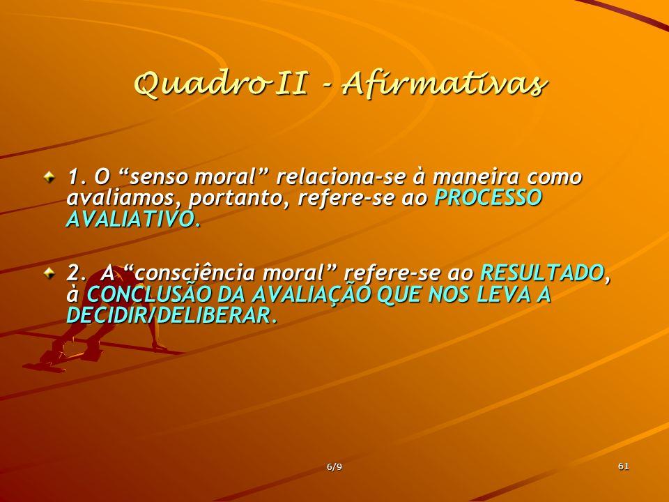 Quadro II - Afirmativas
