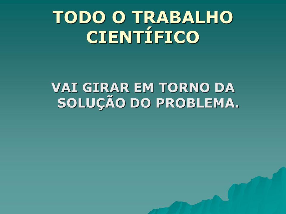 TODO O TRABALHO CIENTÍFICO