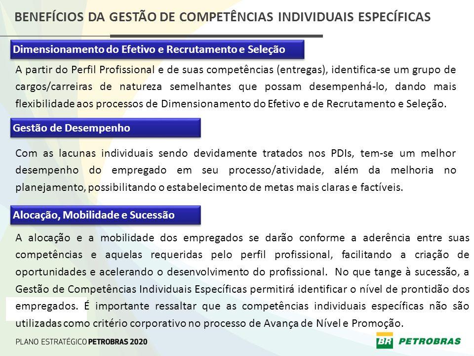 BENEFÍCIOS DA GESTÃO DE COMPETÊNCIAS INDIVIDUAIS ESPECÍFICAS