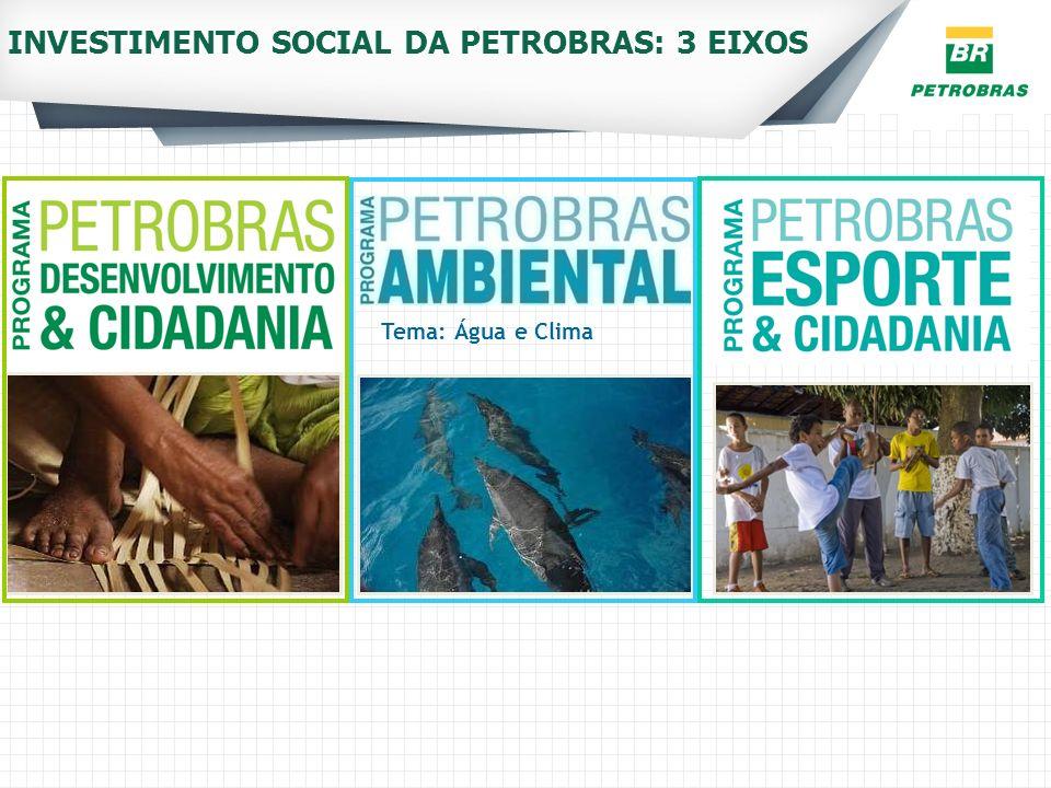INVESTIMENTO SOCIAL DA PETROBRAS: 3 EIXOS