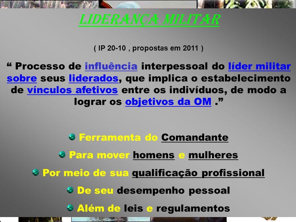 LIDERANÇA MILITAR ( IP 20-10 , propostas em 2011 )