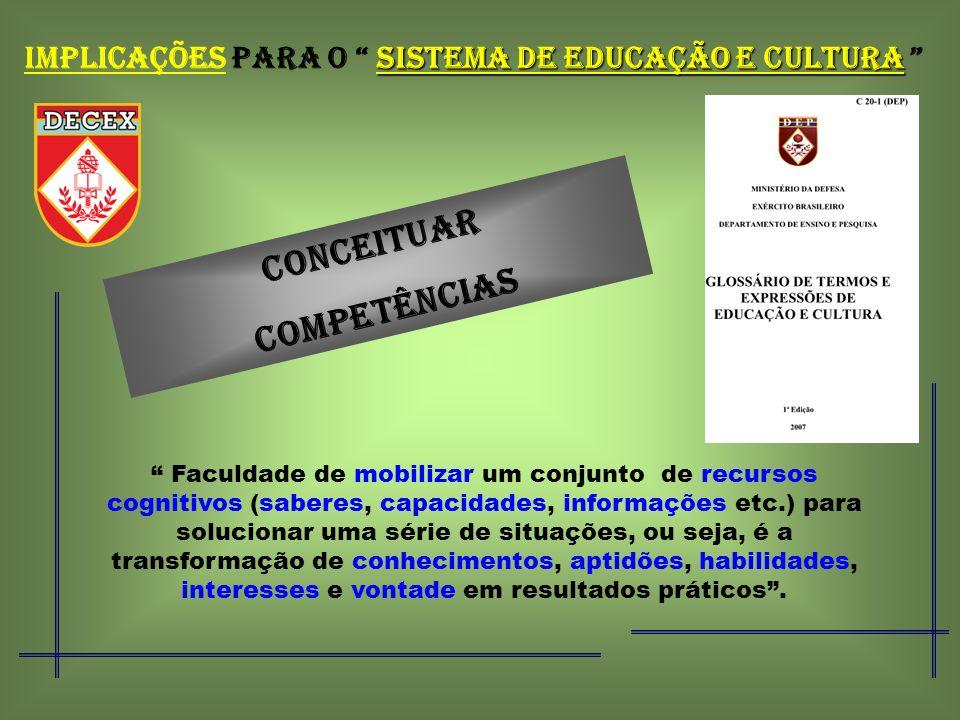IMPLICAÇÕES PARA O SISTEMA DE EDUCAÇÃO E CULTURA