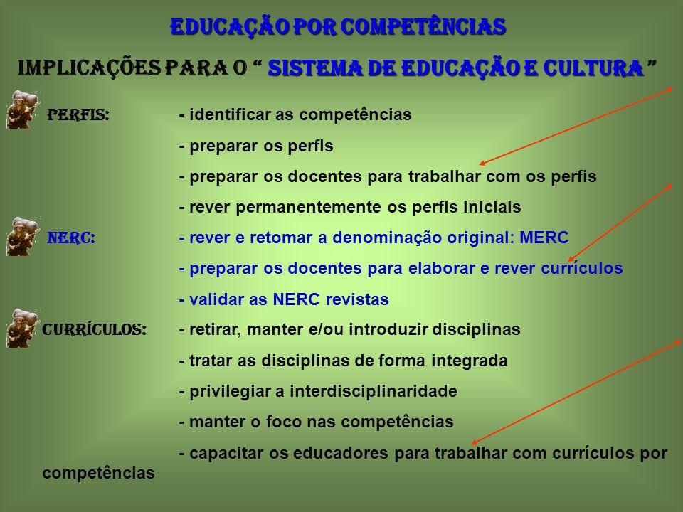 EDUCAÇÃO POR COMPETÊNCIAS